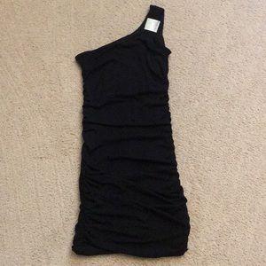 Sweet Storm | One Shoulder Shimmery Ruched Dress